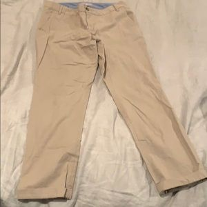 Cropped banana republic Ryan fit pants